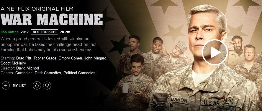 Netflix War Machine