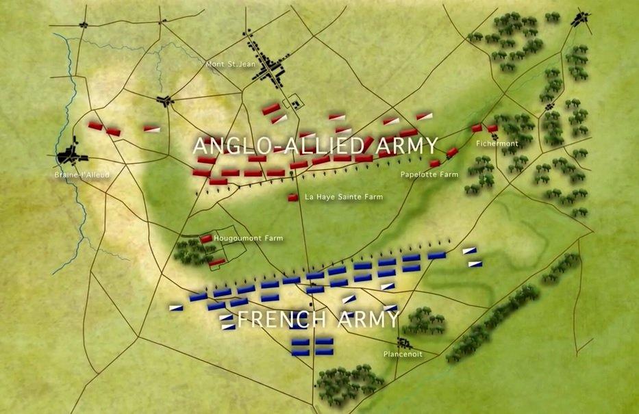 Waterloon taistelu - alkutilanne
