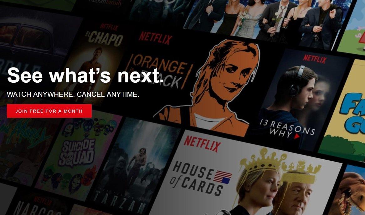 Netflix etusivu