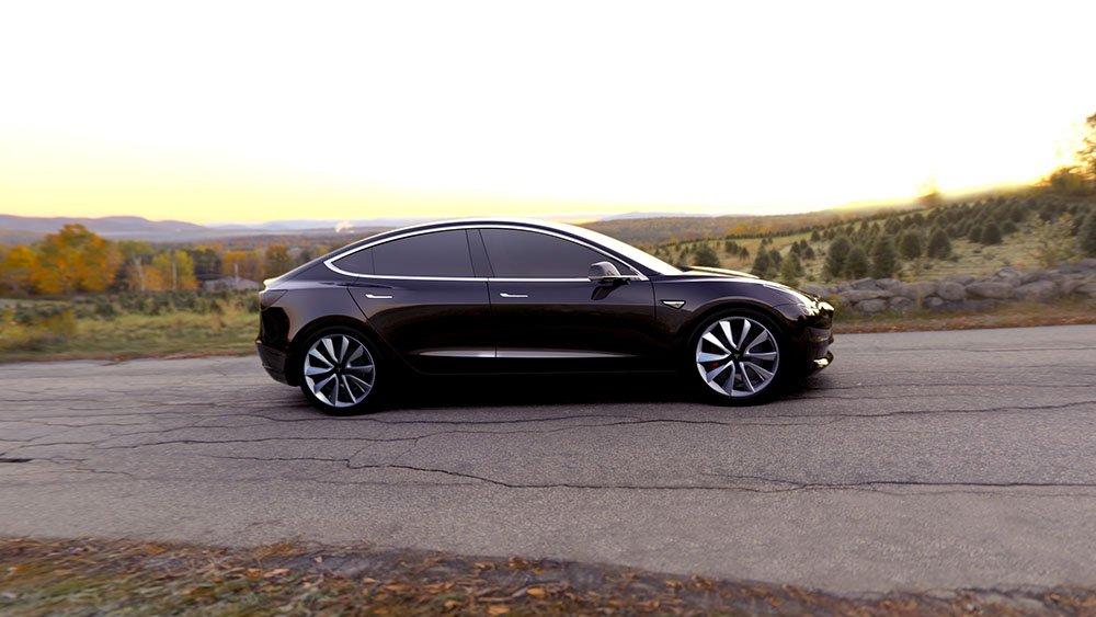 Tesla Model 3 press