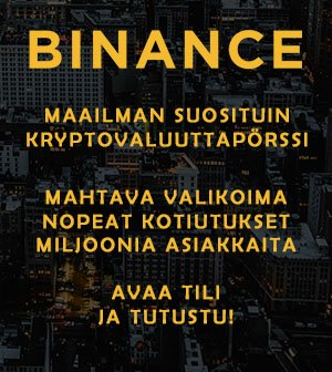 Binance pörssi - avaa tili
