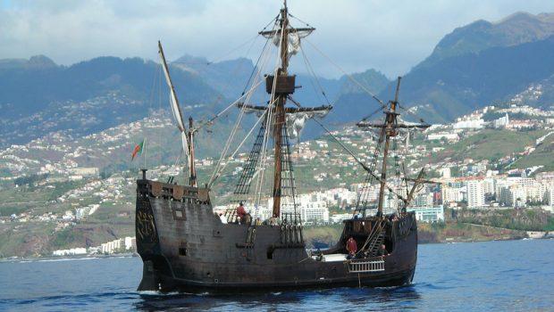 kolumbuksen alukset santa maria