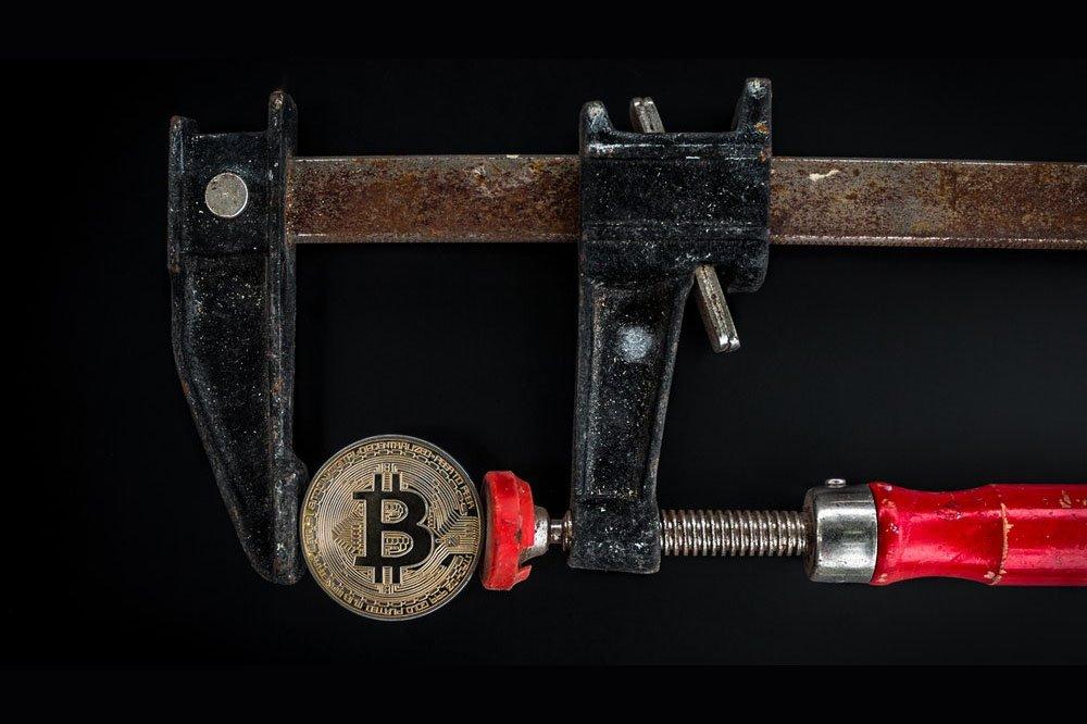 bitcoin puristuksessa